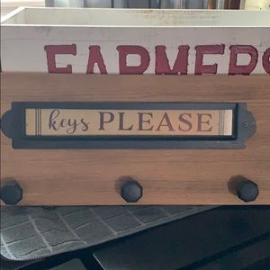 Wooden Key Holder plaque